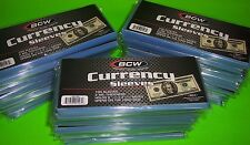 3000 BCW REGULAR CURRENCY SOFT POLY SLEEVES,2 MIL THICK,FOR U.S.& OTHER CURRENCY