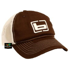 NEW BANDED GEAR CHINO TWILL MESH BACK TRUCKER CAP HAT BROWN W/ LOGO ADJUSTABLE
