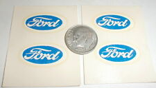 "(4) Ford Racing Slot Car Decals logo 7/8"" X 1/2"" NOS Vintage UNKNOWN water slide"