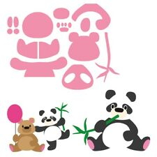 Marianne Design Panda & Bear Coleccionables De Corte Die Set COL1409