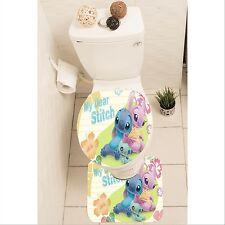 Lilo Stitch Set of 3 Bathroom Rug Set Mat Toilet Lid Cover y70 w0031