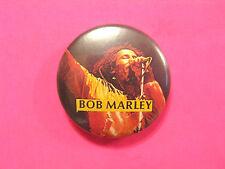 "BOB MARLEY VINTAGE BUTTON BADGE PIN UK IMPORT "" LIVE """