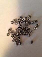 50 5mm Rondell Shape Bali Style Pewter Beads L@@K #201