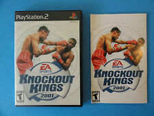 NO GAME- PS2 EA SPORTS KNOCKOUT KINGS 2001 -  CASE & MANUAL ONLY - NO GAME