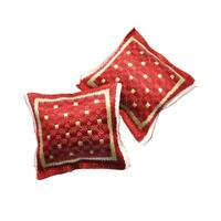 Dolls House Red with Gold Braiding Scatter Cushions Miniature 1:12 Accessory