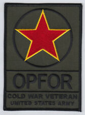 """Opfor Cold War Veteran-United States Army 4"""" patch made in Usa"""