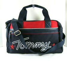 Tommy Hilfiger 💖NWT $128 Navy Duffel Bag Crossbody Large Weekender Embroidered