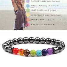 7 Chakra Healing Beaded Weight Loss Bracelet  Hematite Stone Bracelet TK