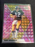 2020 Panini Mosaic Terry Bradshaw Pink Camo Prizm #171 Steelers