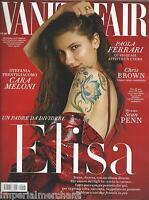 Vanity Fair Magazine Elisa Cara Meloni Paola Ferrari Sean Penn Chris Brown 2016