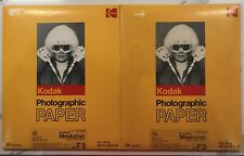 """NOS Kodak Medalist F3 Photographic Paper 8""""x10"""" - 2 Packs of 25 - Sealed Expired"""