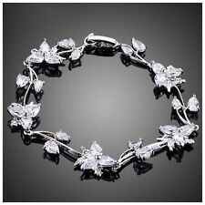 DF101 Handmade With Swarovski Crystals Flower Vine Bracelet $99