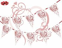 On Your Wedding Day Heart Ruby Red Bunting Banner 15 flags Simply Stylish Touch