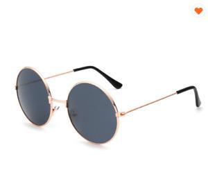 Round Sunglasses Gold Silver Frame Retro Festival 400UV Gradient Mirror Glasses