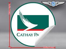 CATHAY PACIFIC AIRWAYS ROUND LOGO STICKER / DECAL