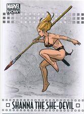 #85 SHANNA THE SHE-DEVIL 2014 Upper Deck Marvel NOW SILVER FOIL