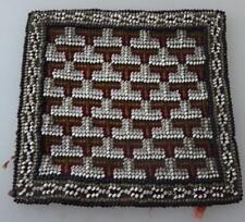 OLD BEADWORK PANEL/PIN CUSHION COVER LATE 1800s