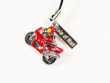 Tt Motorbike Phone Charm, Manx, Isle of Man