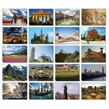 40-pack Around The World Travel Postcards 20 Assorted Designs 4 X 6 Inches