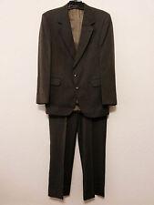 Evan Picone Mens Suit Size 43L 36x32 Gray Tweed Blazer & Pants Suit Front Pleats