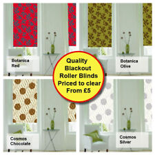 Quality Blackout Roller Blinds from Only £5! - Various Patterns Printed Blind