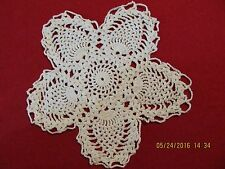 Vintage Small Handmade Pineapple Crocheted Doily