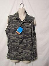 mens columbia omni shade 50 silver ridge jacket vest L nwt $80 green camo