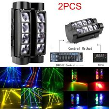 2 Pcs RGBW DJ Spider Moving Head Stage Lighting 80W Beam LED Disco Party Lights