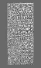 Sticker Bogen Großbuchstaben In Silber 814 Starform