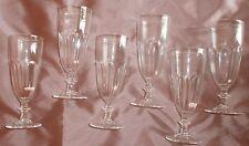 6 flûtes à champagne en cristal moulé style harcourt
