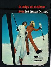 PUBLICITE ADVERTISING 045  1971  NILSEC OLYMPIC  vetements de ski