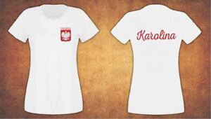 Personalised Koszulka Damska Polska Poland Kibic 2021 T-shirt Female White