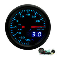 """2 """"52mm 7 couleurs LED voiture Turbo Boost manomètre analogique/numérique PSI"""