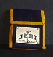 2003 Disney Parks Star Wars Jedi Academy Orange and Blue Wallet