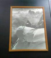 Rare grande photo montagne années 30-40 Alpes alpinistes parfait état avec cadre