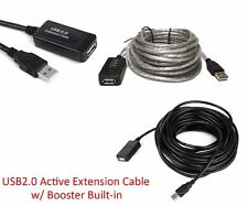 USB 2.0 Type A Male to Female Extension Signal Booster Cable Cord 25FT 50 FT