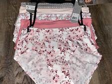 Daisy Fuentes ~ Women's Bonded Hem Briefs Underwear Panties 5-Pair ~ L