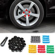 20pcs Black Wheel Lug Nut Center Cover Cap + Removal Tool for VW Audi Skoda Seat