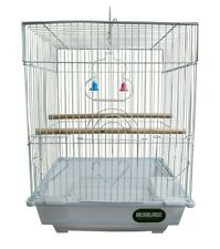 More details for heritage cages warwick budgie finch bird cage 30x23x39cm budgies canary small
