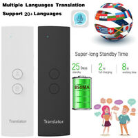 T6 Portable Bluetooth Smart 20+ Languages Translator Two Way Real Time Black