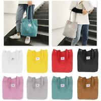 Women's Canvas Tote Bags Large Capacity Handbag Ladies Shoulder Bag Satchel LZ