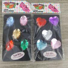 Cali Bits Oval Heart Jeweled Rhinestones 2 Packages Lot Skechers
