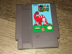 Color a Dinosaur Nintendo Nes Cleaned & Tested Authentic
