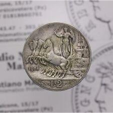 2 Lire 1908 Quadriga Veloce (Regno Italia - Vitt Em III) MB LOT1536