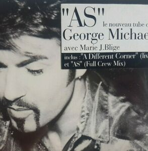 GEORGE MICHAEL : AS ╚ UNIQUE ! CD with French Sticker !!! MINT & SEALED ! ╝
