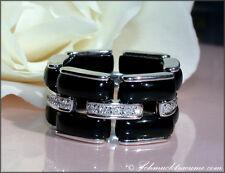 Ausgefallen: Sportlich eleganter Onyx Ring mit Diamanten 11,55 ct. WG-750 3.600€