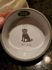 "PETRAGEOUS DESIGNS!  PLAYFUL EAT, DRINK, BARK 5"" DOG BOWL"