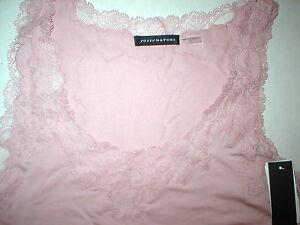 NWT $195 New Designer Josie Natori Silk Camisole Top Pink Tank M Rose Womens