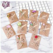 DIY Dried Flowers Greetings Invitation Card With Ribbon And Envelope Tri-folding