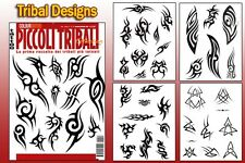 PICCOLI TRIBAL Tattoo Flash Design Book 64-Pages Cursive Writing Art Supply